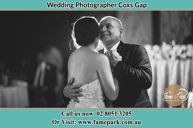 Photo of the Bride dancing with her father Coxs Gap NSW 2333