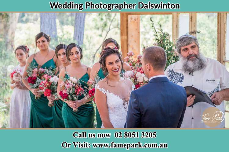 Photo of the Bride and the Groom at the matrimony Dalswinton NSW 2328