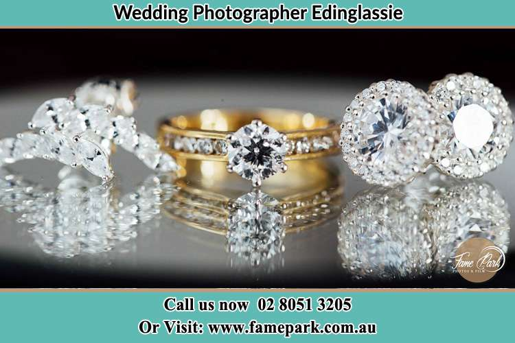 Photo of the Bride's cliff, ring and earrings Edinglassie NSW 2333