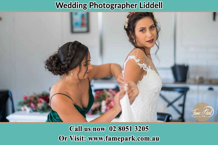 Photo of the Bride and the bridesmaid preparing Liddell NSW 2333