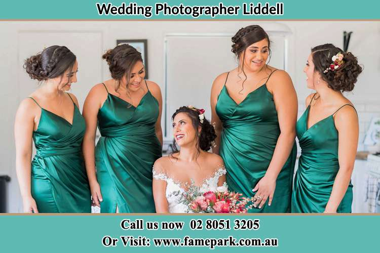 Photo of the Bride and the bridesmaids Liddell NSW 2333