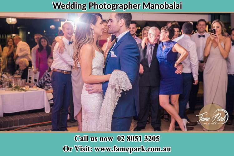 Photo of the Bride and the Groom dancing Manobalai NSW 2333