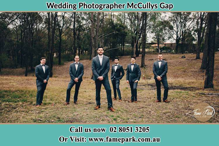 Photo of the Groom and the groomsmen McCullys Gap NSW 2333