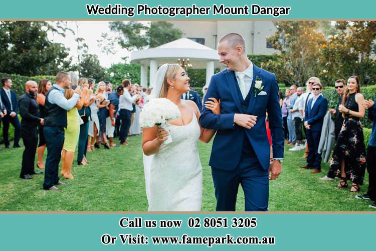 Photo of the Groom and the Bride looking each other Mount Dangar NSW 2333