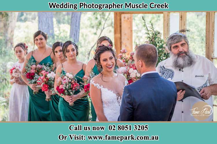 Photo of the Bride and the Groom at the matrimony Muscle Creek NSW 2333