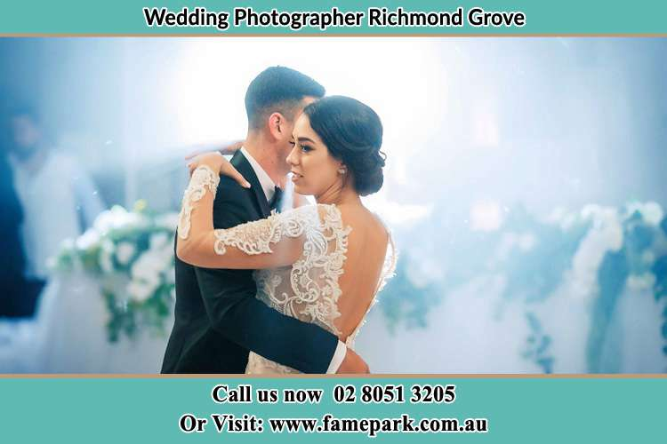 Photo of the Groom and the Bride dancing Richmond Grove Rd NSW 2333