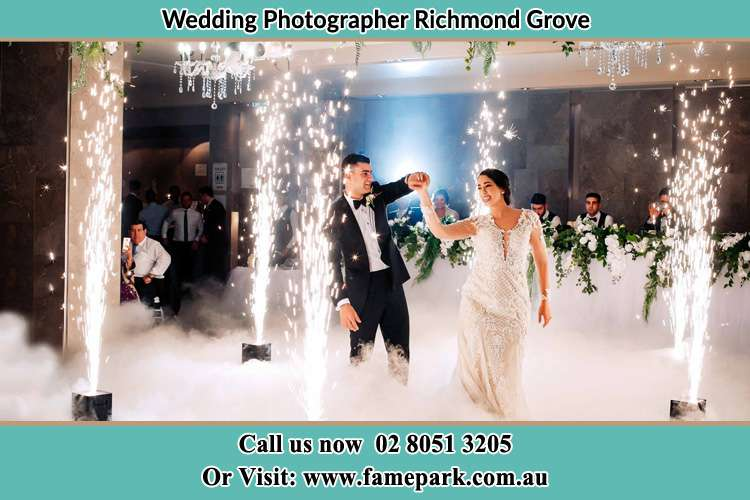 Photo of the Groom and the Bride dancing on the dance floor Richmond Grove Rd NSW 2333