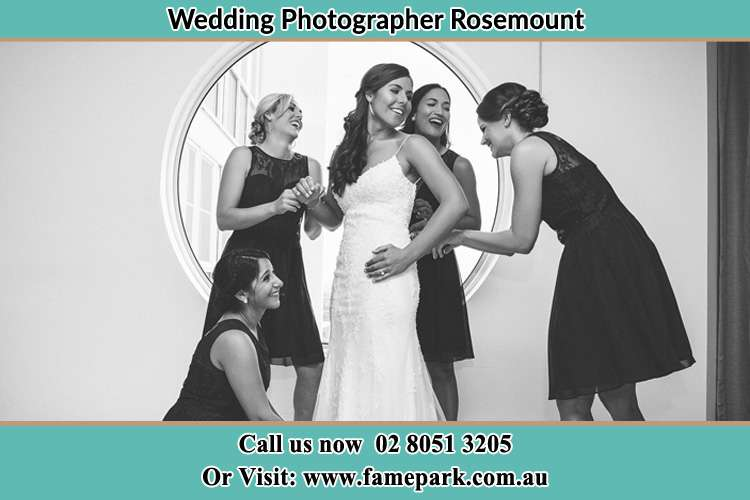 Photo of the Bride and the bridesmaids near the window Rosemount NSW 2328