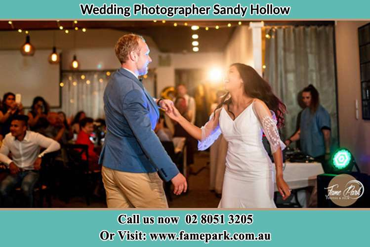 Photo of the Groom and the Bride dancing Sandy Hollow NSW 2333